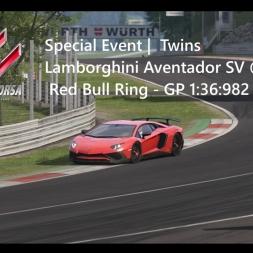 Assetto Corsa | Twins Achievement | Lamborghini Aventador SV @ Red Bull Ring - GP 1:36:982 min VR