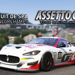 Assetto Corsa | Red Pack | Maserati GranTurismo MC GT4 @ Spa Francorchamps