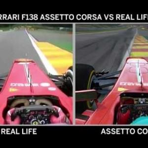 Assetto Corsa vs Real Life - Ferrari F138 at Spa Francorchamps