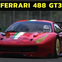 Assetto Corsa - Ferrari 488 GT3 at Monza - Red Pack