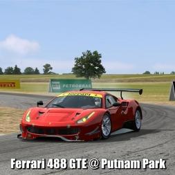Ferrari 488 GTE @ Putnam Park - Automobilista 60FPS