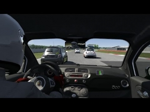 Assetto Corsa Finally Multiplayer!! Race with 500 Abarth S1 at Silverstone International