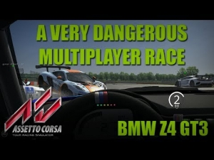 A very dangerous Multplayer Race - BMW Z4 GT3 - Assetto Corsa 0.9.5 - Triple Monitors Eyefinity
