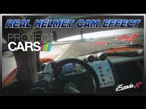 Project CARS - Real Helmet Cam Effect (Pagani Zonda R @ Dubai)