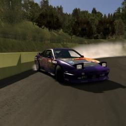 Nissan 180sx drifting   Hunting the wall @sportsland Tamada   Assetto Corsa drifting  