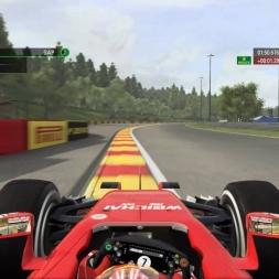 F1 Spa Francorchamps Ferrari Raikonen 25% Race drama at the last lap (2016)