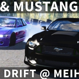 Nissan S13 Twin Drift with Mustang RTR | Assetto Corsa [Oculus Rift CV1 + T300RS]
