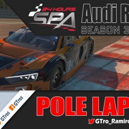 iRacing Audi R8 LMS @ Spa 24h | Pole Lap 2'15.417 | Season 3 - 2016