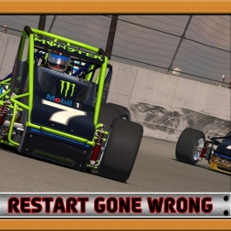 """iRacing: Restart Gone Wrong"" (Sprint Cars at Irwindale Speedway)"