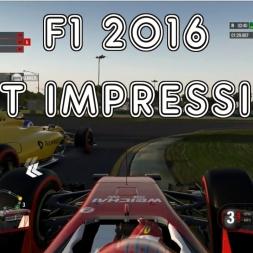 F1 2016 First Impressions!
