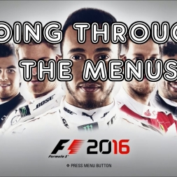 F1 2016 - Going Through The Menus