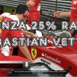 F1 2016 - Monza 25% Race - Sebastian Vettel - Ferrari