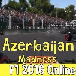 F1 2016 Online - Azerbaijan Madness