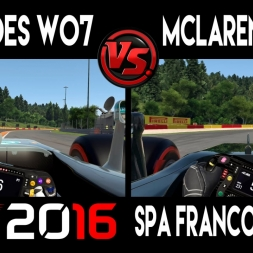 F1 2016 | Mercedes F1 W07 -VS- Mclaren Honda MP4-31 @ Spa Francorchamps