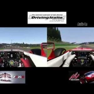 F1 2016 vs Assetto Corsa | Ferrari SF16-H @ Spa-Francorchamps | DrivingItalia.net