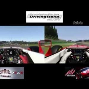 F1 2016 vs Assetto Corsa | Ferrari SF16-H @ Spa-Francorchamps | DrivingItalia.net