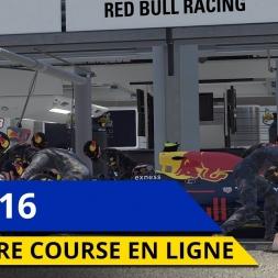 MA PREMIERE COURSE EN LIGNE SUR F1 2016