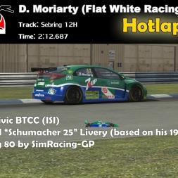 Honda Civic BTCC - Sebring 12 H Hotlap (Race) - 2:12:687 - Schumacher 25 Skin