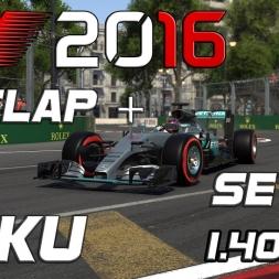 F1 2016   Setup + Hotlap   Baku   1.40,706 [PC]
