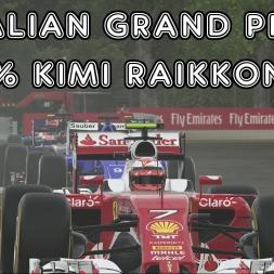 F1 2016 - Italian Grand Prix - 50% - Kimi Raikkonen