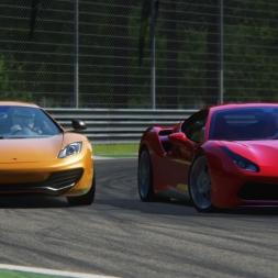 Assetto Corsa - Ferrari 488 vs McLaren MP-12C