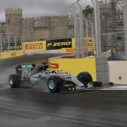 F1 2016 wet Baku hotlap