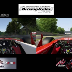 F1 2016 vs Assetto Corsa | Ferrari SF16-H/SF15-T @ Monza | DrivingItalia.net