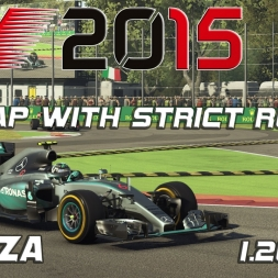 F1 2015 | Italy | Setup + Hotlap | strict rules| 1.20,260 [PC]