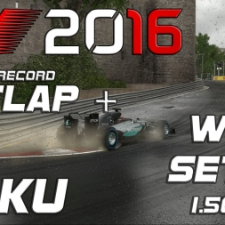 F1 2016 | Setup + Hotlap | Baku (wet) | 1.56,774 (Worldrecord)[PC]