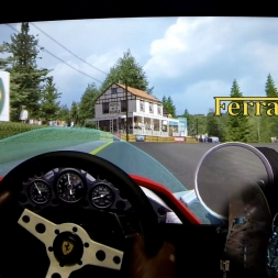 ONBOARD CAM: 1965 Ferrari 1512 - Spa Francorchamps. rFactor. AccuForce. Triple Screens.