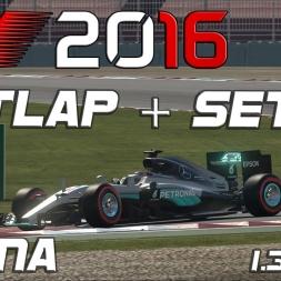 F1 2016 | Setup + Hotlap | China | 1.34,187 [PC]