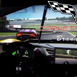 ONBOARD CAM: Corvette C7.R - Brands Hatch. Assetto Corsa. AccuForce. Triple Screens.