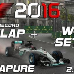 F1 2016 | Setup + Hotlap | Singapore (wet) | 2.01,098 (Worldrecord)[PC]