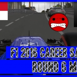 F1 2016 Career Mode Sauber - Round 6 Monaco Safety Car Rage!