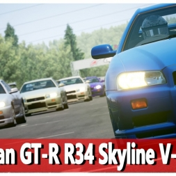 ★ Assetto Corsa - Nissan GT-R R34 Skyline V- Spec @Road America