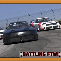 """iRacing: Battling FTW!"" (Audi 90 quattro GTO at Mid-Ohio SportsCar Course)"