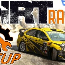 DiRT Rally Top 10 - Mitsubishi Lancer Evo X Setup - Monaco - Wheel & Controller [4K]