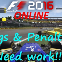 F1 2016 Online: Flags and penalties need work!