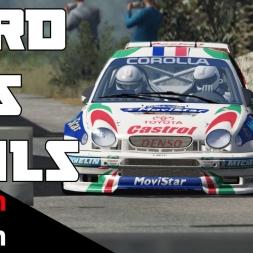 Assetto Corsa - Unforgiving track! Corolla WRC vs Peyregrosse