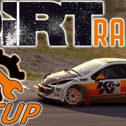 DiRT Rally - Rallycross 1600 - Peugeot 207 - Wheel & Controller Setup [4K]