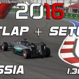 F1 2016 | Setup + Hotlap | Russia | 1.36,849 [PC]
