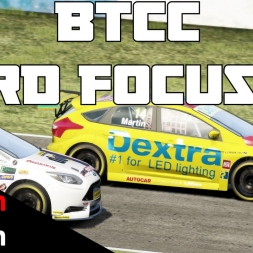 BTCC mod for Assetto Corsa - Ford Focus ST @ Donington park