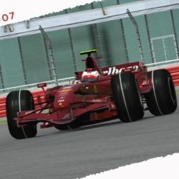 rFactor2 Kimi Raikkonen Ferrari F2007 Onboard Cam at Silverstone