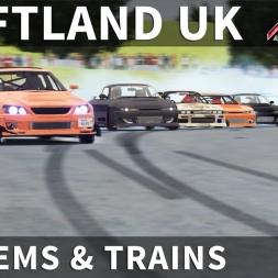 Jap Cars Drift Train & Tandems @ Driftland UK | Assetto Corsa [Oculus Rift CV1 + T300RS]