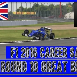 F1 2016 Career Mode Sauber - Round 10 Great Britain Mr Bump