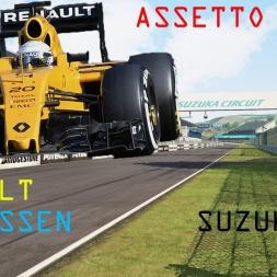 AssettoCorsa 1.8.1 F1 ACFL 2016 V4.02 RENAULT MAGNUSSEN SUZUKA GP