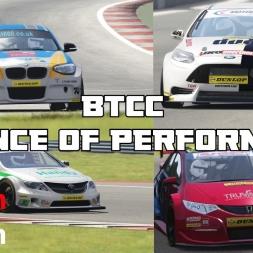 BTCC pack Balance of Performance check - Assetto Corsa