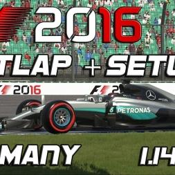 F1 2016 | Setup + Hotlap | Germany | 1.14,068 [PC]