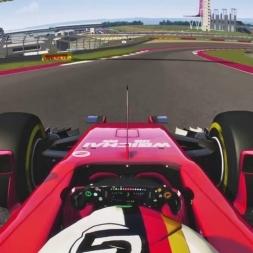 Laps around COTA Austin Texas F1 - Ferrari 2015 Vettel - Asseto Corsa