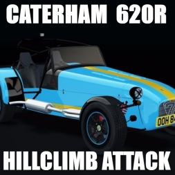 The CRAZY Caterham 620R on Glava Zete Hillclimb